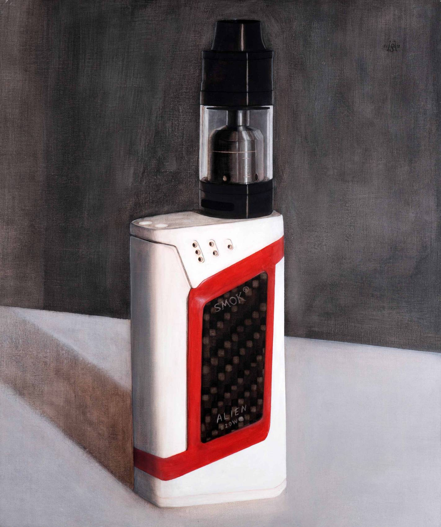 SMOK ALIEN 220 W TC, 2018. Acryl auf Leinwand. 110 x 92 cm. Foto: Phillip Hiersemann